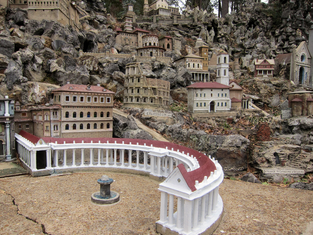 See holy sites in miniature at the Ave Maria Grotto in Cullman, AL.